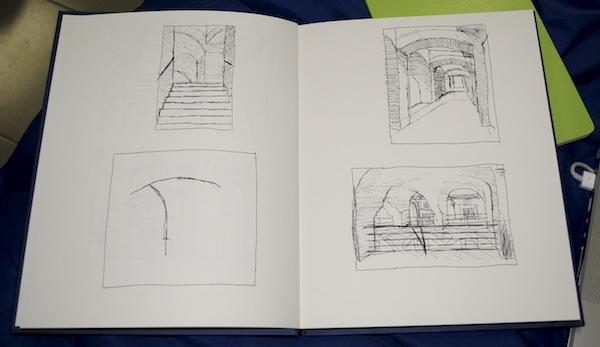 Trajan's Market story board sketch